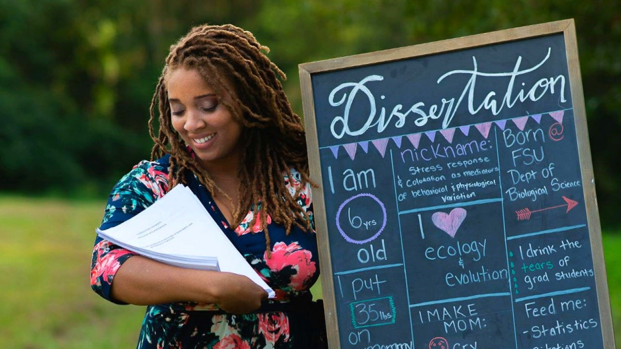 Woman Celebrates Doctorate With Maternity Shoot of Dissertation
