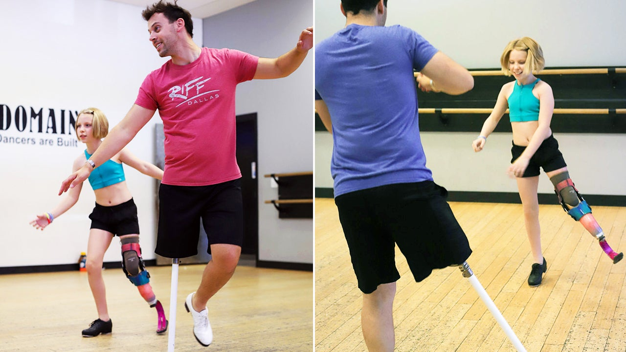 11-Year-Old Who Lost Leg to Cancer Trains With Famous Tap-Dancing Amputee