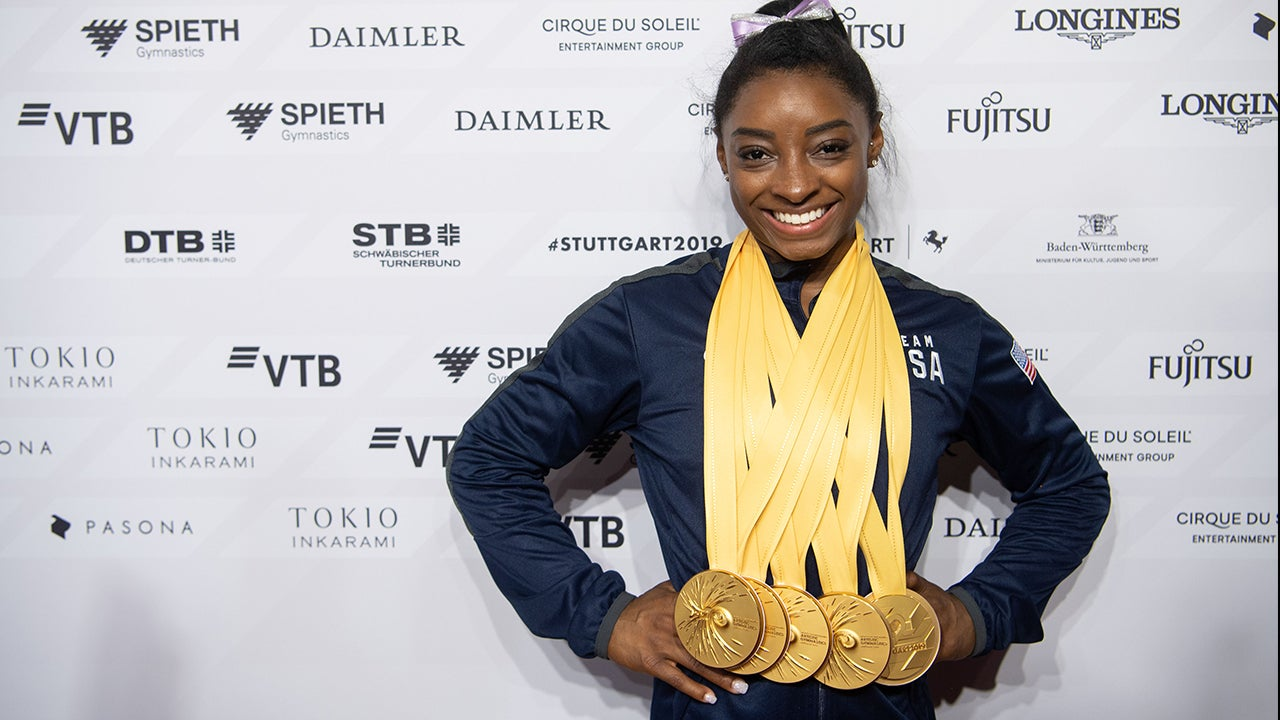 Simone Biles is now the most-decorated gymnast in World Championship history.