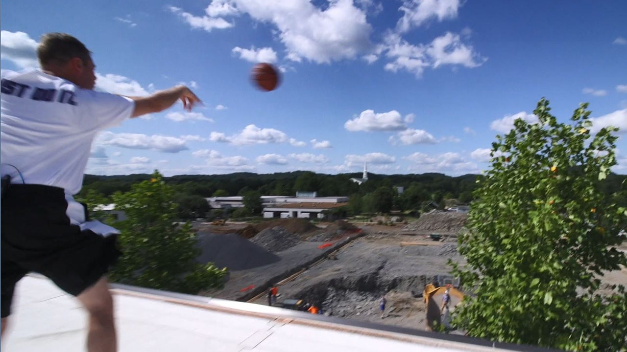 This Coach Hits Jaw-Dropping Basketball Trick Shot