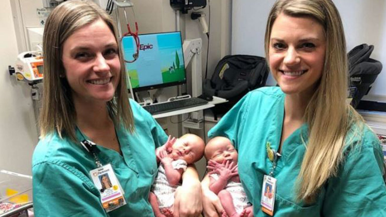 Identical Twin Nurses Help Deliver Identical Twin Babies