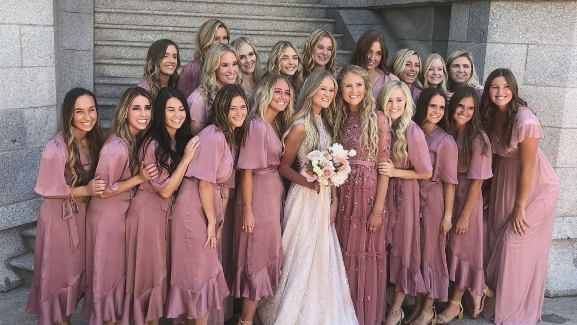 Why This Bride Has 20 Bridesmaids in Her Wedding