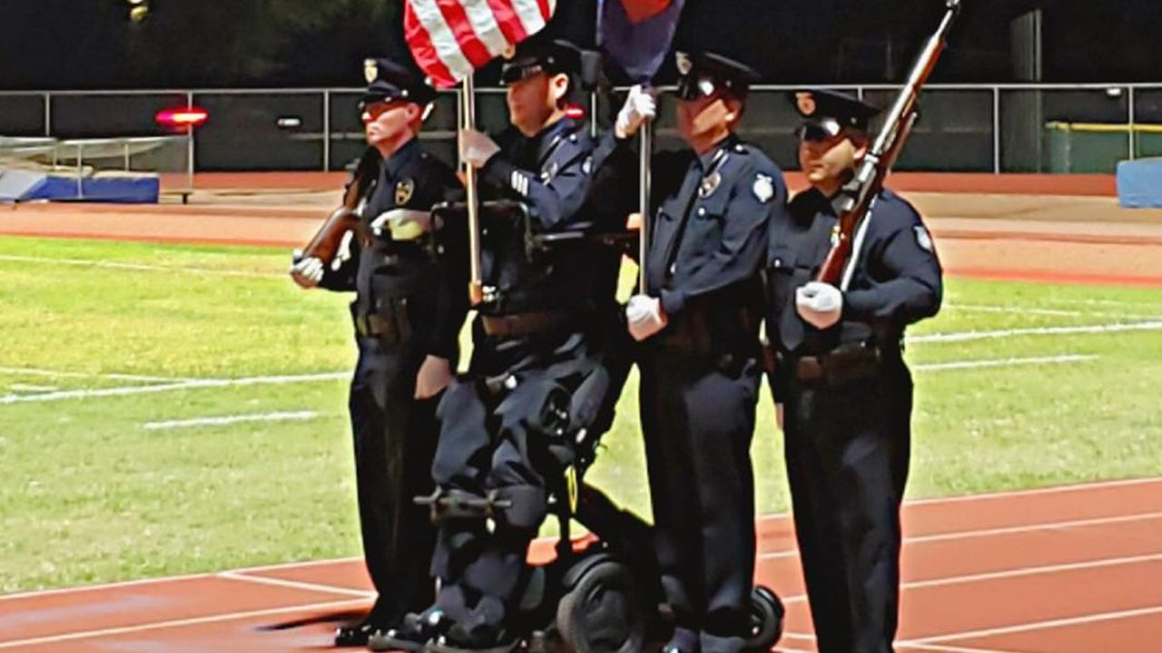Cop Paralyzed in Line of Duty Stands for 1st Time in 14 Years During National Anthem