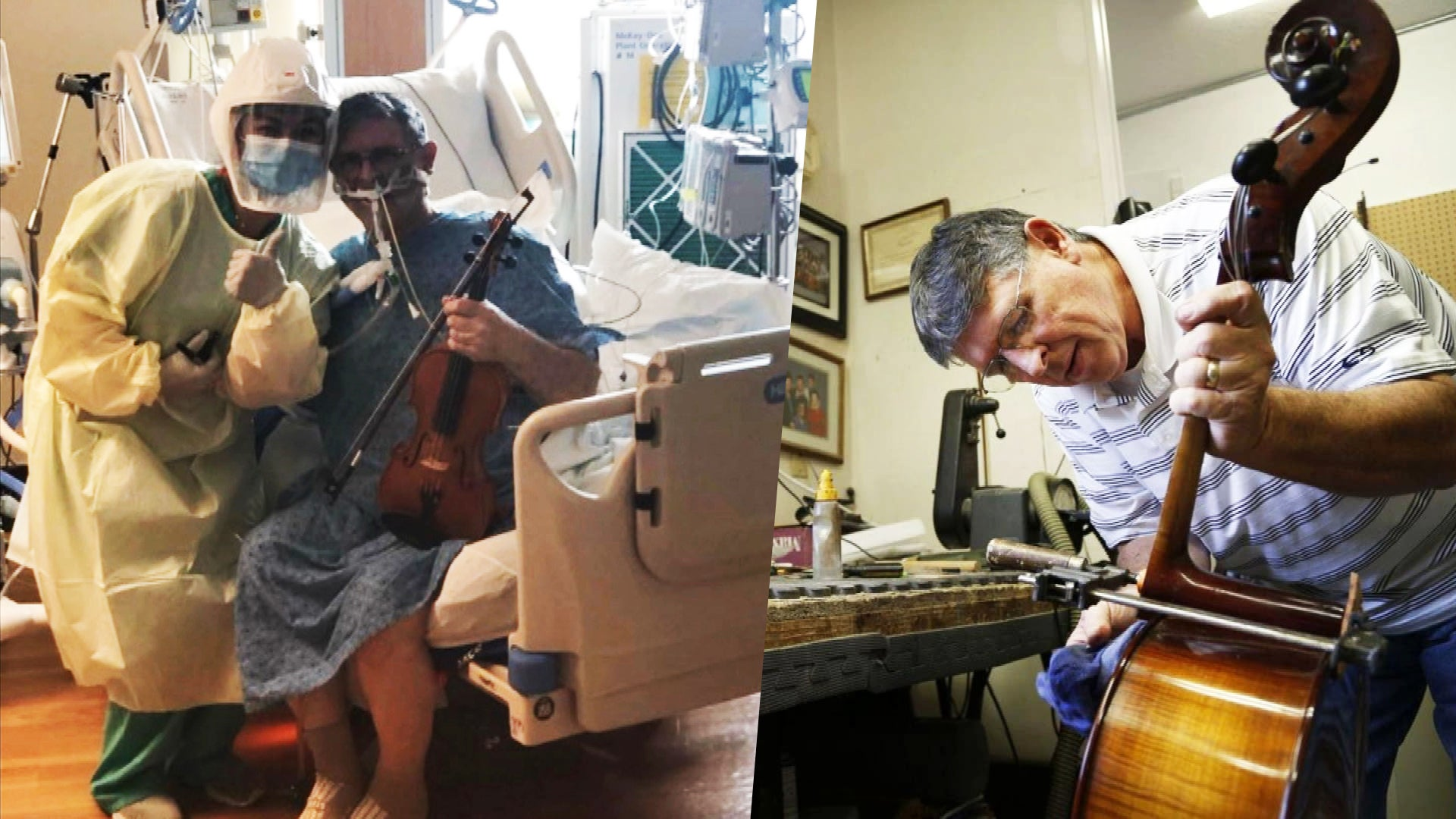 Patient on Ventilator With COVID-19 Plays Violin for Doctors and Nurses Saving His Life