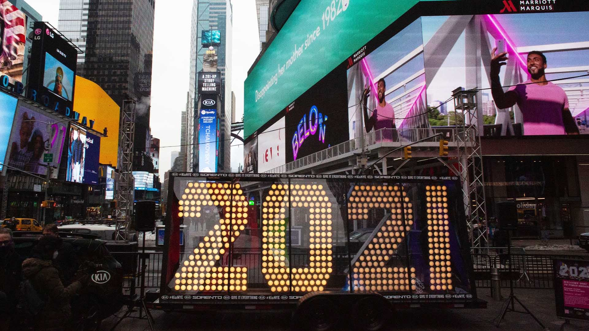 New Year's Ball Drop in Times Square Will Be Attended by Just 100 People | Inside Edition