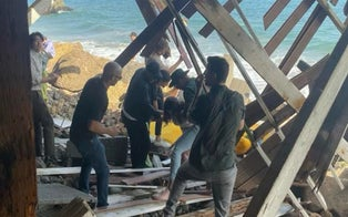 Survivors of Deck Collapse Caught on Camera at Rental Home Allege Deck's Wood Was Rotted