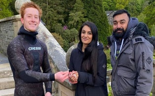 Diver Recovers Diamond Engagement Ring Newly-Engaged Woman Accidentally Lost in England's Largest Lake