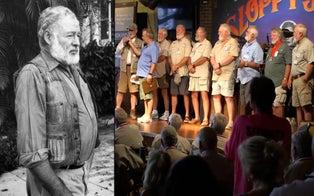 Bearded Bar-Hoppersin Florida's Key West Compete in Ernest Hemingway Lookalike Contest