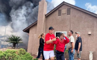Hero Neighbors Rush to Save Couple From Inferno After Plane Crashes Into Their San Diego Home