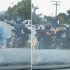 Motorcycle road rage