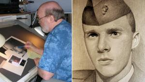 Vietnam Veteran Draws Portraits of Fallen Comrades for Their Families