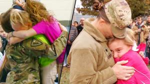 Military Moms Surprise Their Kids at Indiana Schools