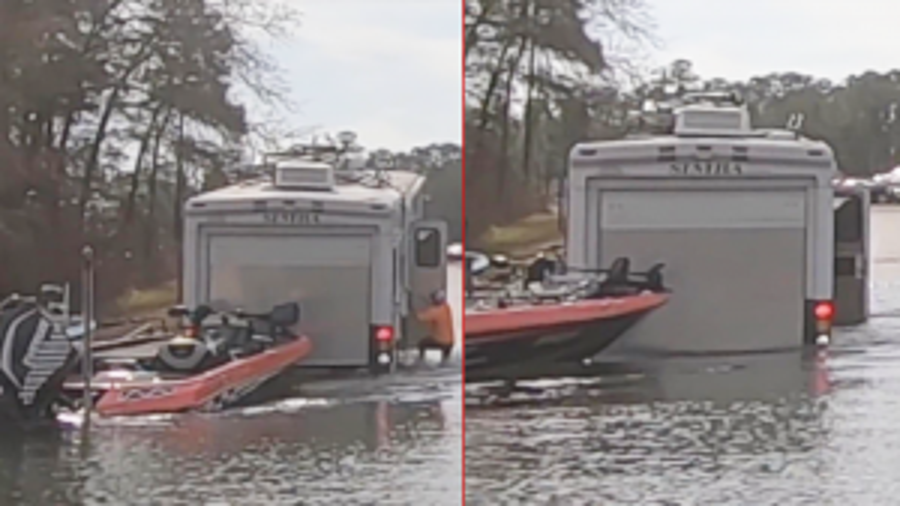 Dalmatian Accidentally Puts RV in Reverse, Sending It Into Texas Lake