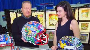 Artist Creates Unique NFL Super Bowl Helmet