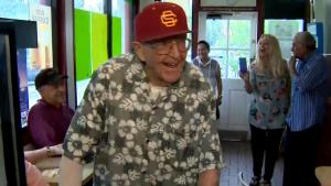 World War II Vet Gets Surprise 99th Birthday Party at Favorite Doughnut Shop