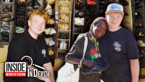 Nevada Teen Stabbed at School Gives Away Shoes to Help Heal His PTSD