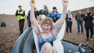 Woman Swims English Channel 4 Times n Record-Breaking 54 Hours