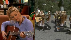 Flash Mob of 'Friends' Fans Dressed as Phoebe and Sang 'Smelly Cat'