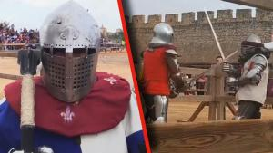 Challenge Accepted: Knights in Full Armor Face Off in Spain