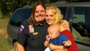 911 Dispatcher Meets Mom She Helped Save During Houston Flood