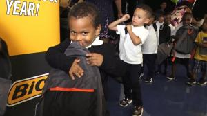 Kids Go Wild When They're Surprised With Backpacks Filled With School Supplies