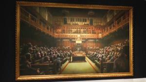 Banksy's 'Devolved Parliament' May Fetch $3 Million at Sotheby's Auction