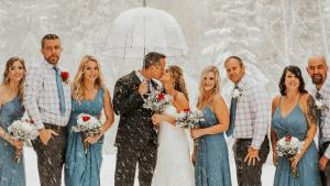 Bizarre September Blizzard Doesn't Stop Couple From Getting Married