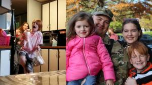 Military Dad Surprises Family With His Return