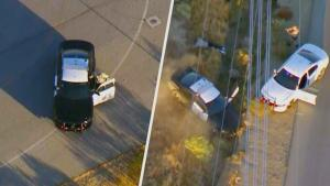 Suspect Steals Cop Car in Insane California Police Chase