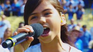 9-Year-Old Wows Crowd at Dodgers Game With Her Beautiful Voice