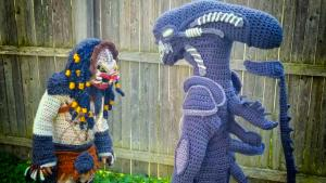 Mom Crochets Scary 'Alien' and Skeletor Halloween Costumes for Kids