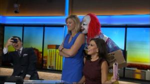 Beware The Creepy Clown! Reporters Get Spooked Live on Air