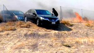 Good Samaritan Helps Save Scared Drivers on Freeway From California Fires