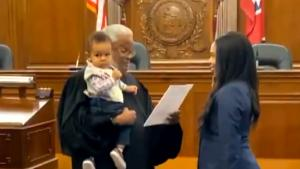 This Judge Soothed a Fussy Baby While His Mother Got Sworn In
