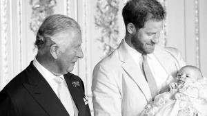 Prince Charles Looks in Awe of His Grandson, Master Archie, at Christening