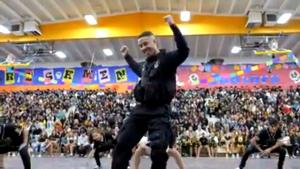 California Cop Performs Pep Rally Farewell Dance on His Last Day at High School