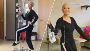 Cancer Patient Undergoing Chemotherapy Dances to 'Senorita' Around Hospital Room
