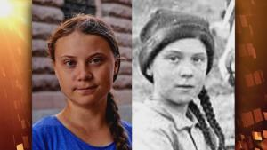 16-Year-Old Greta Thunberg Isn't the 1st to Have a Historic Doppelganger