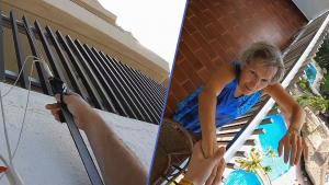 Grandma Helps Save Base Jumper Dangling Off Building in Mexico