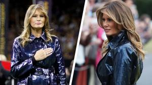 Black or Blue Debate: What Color Is Melania Trump's Trench Coat?