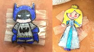 Kids Treasure Bandage Artwork Created By Doctor After Their Surgeries