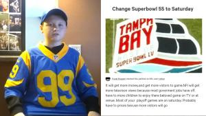 New York 16-Year-Old Petitions to Move Super Bowl Sunday to Saturday