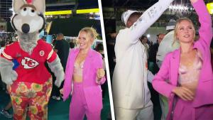 Sailor Brinkley-Cook Shows Off Dance Moves on Super Bowl Opening Night
