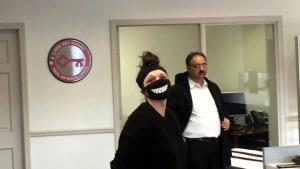 Woman Who Wore Face Mask in Bank Says Teller Hit Panic Button on Her