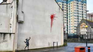 The Elusive Banksy Surprises Neighbors With New Artwork for Valentine's Day