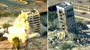 Failed Building Demolition Dubbed 'Leaning Tower of Dallas'