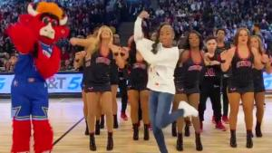 14-Year-Old Jalaiah Harmon Does Renegade Dance at NBA All-Star Game