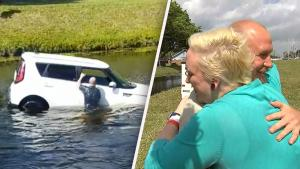 Florida Woman Reunites With Hero Who Saved Her From Sinking Car
