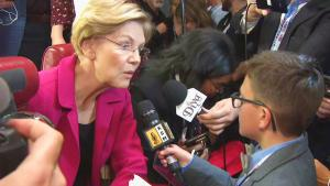 Kid Reporter Ethan Dumper Gets Scoop on Democratic Debate