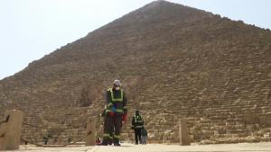 Egypt's Pyramids and Other Historic Places Sanitized to Stop Coronavirus